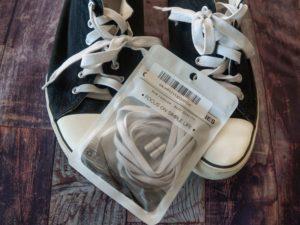 Schuhe und elastische Schnürsenkel